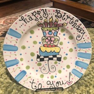 Whimsical Happy Birthday to you Plate!